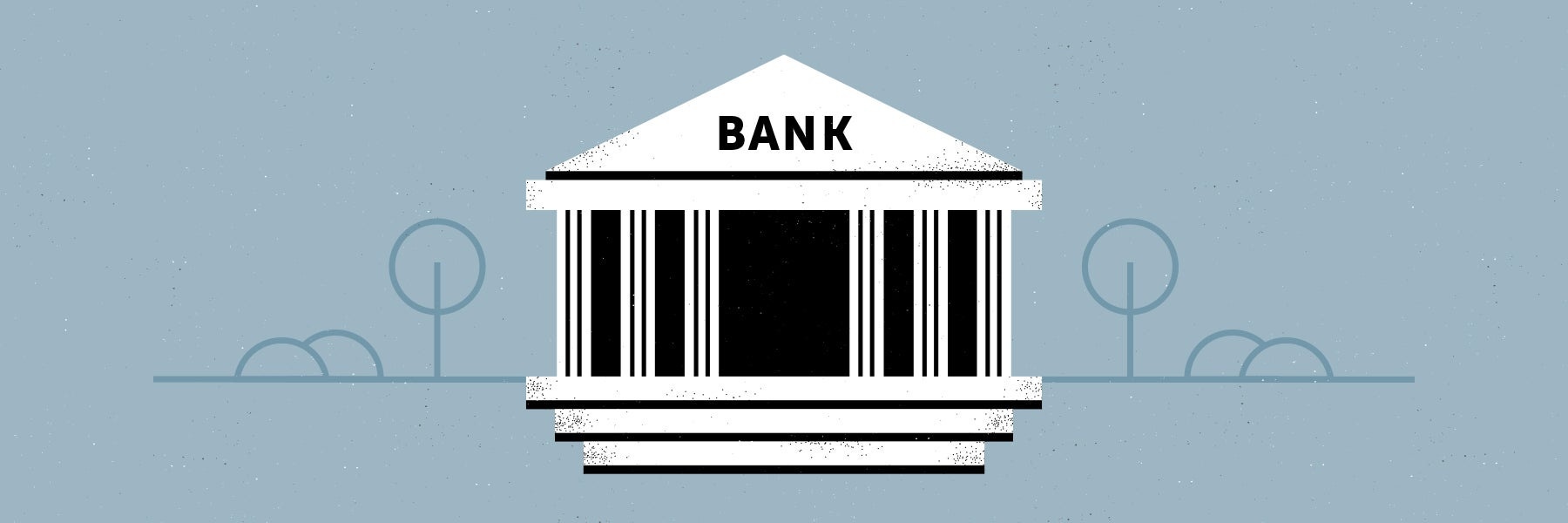 graphic of bank