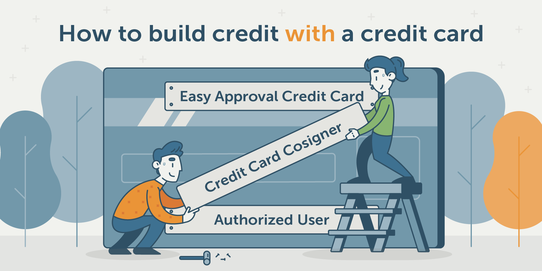 three ways to build credit using a credit card