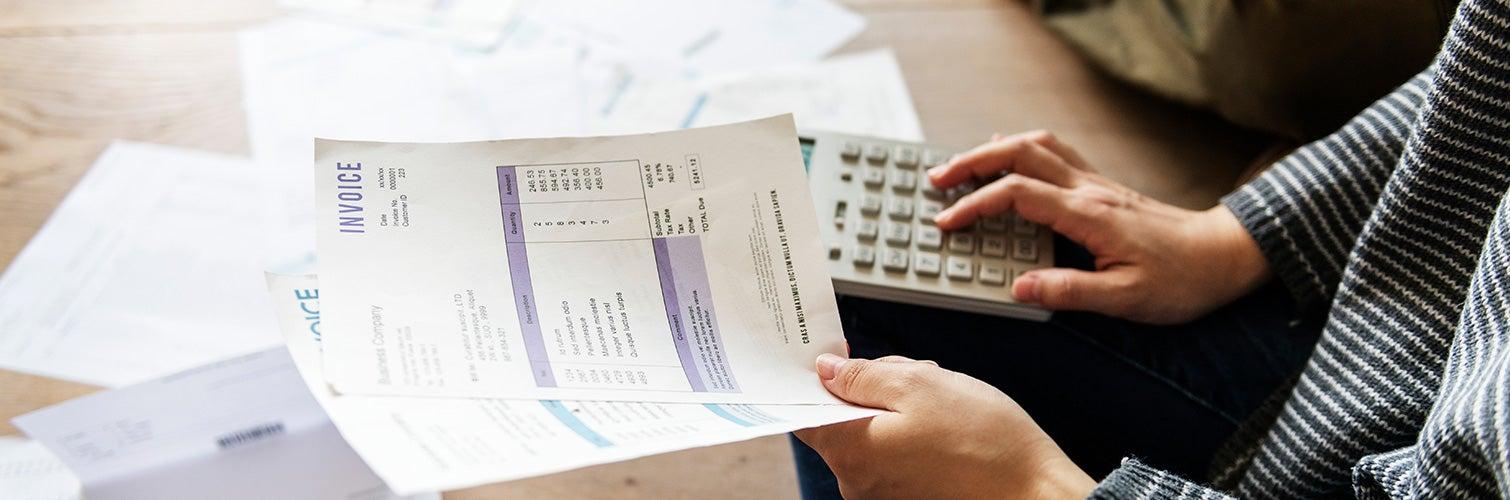 looking over finances