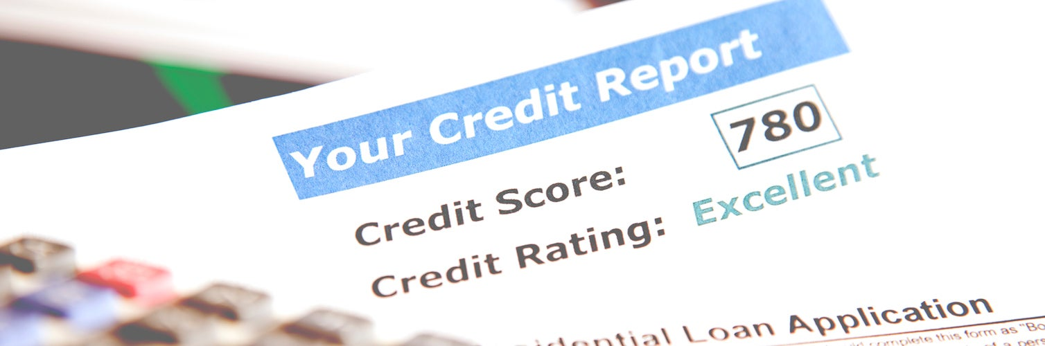 credit score use on a loan application document