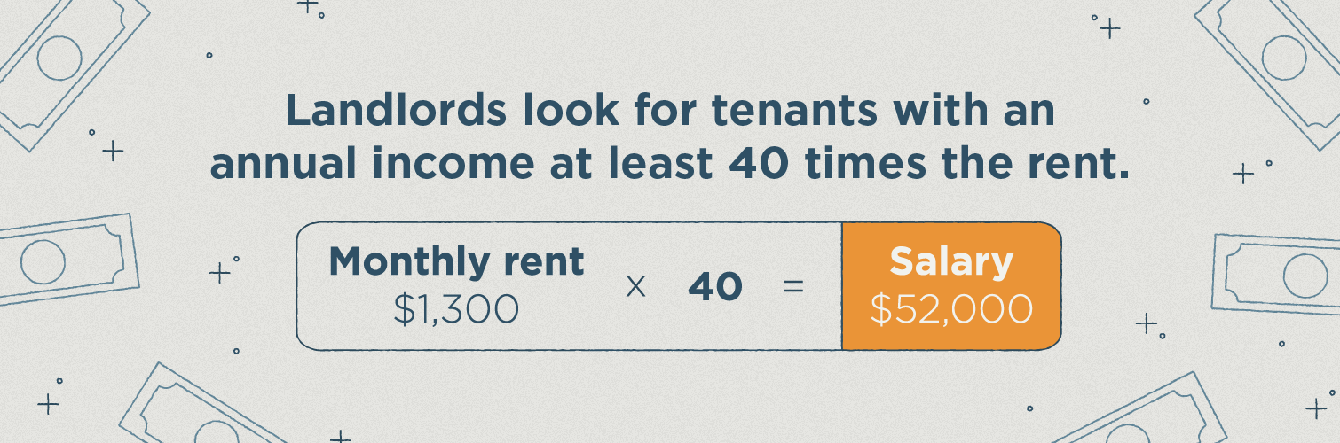 annual income must be 40x apartment rent