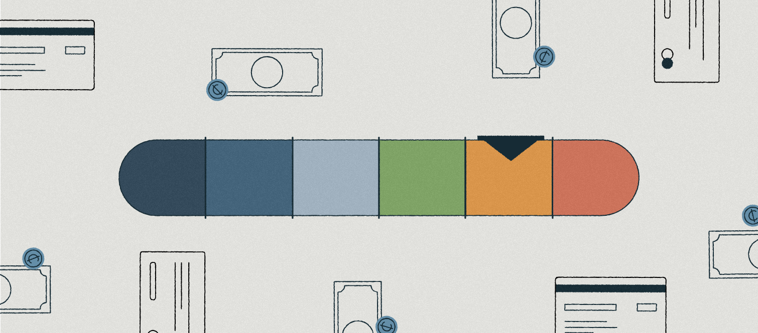 illustration of credit score range