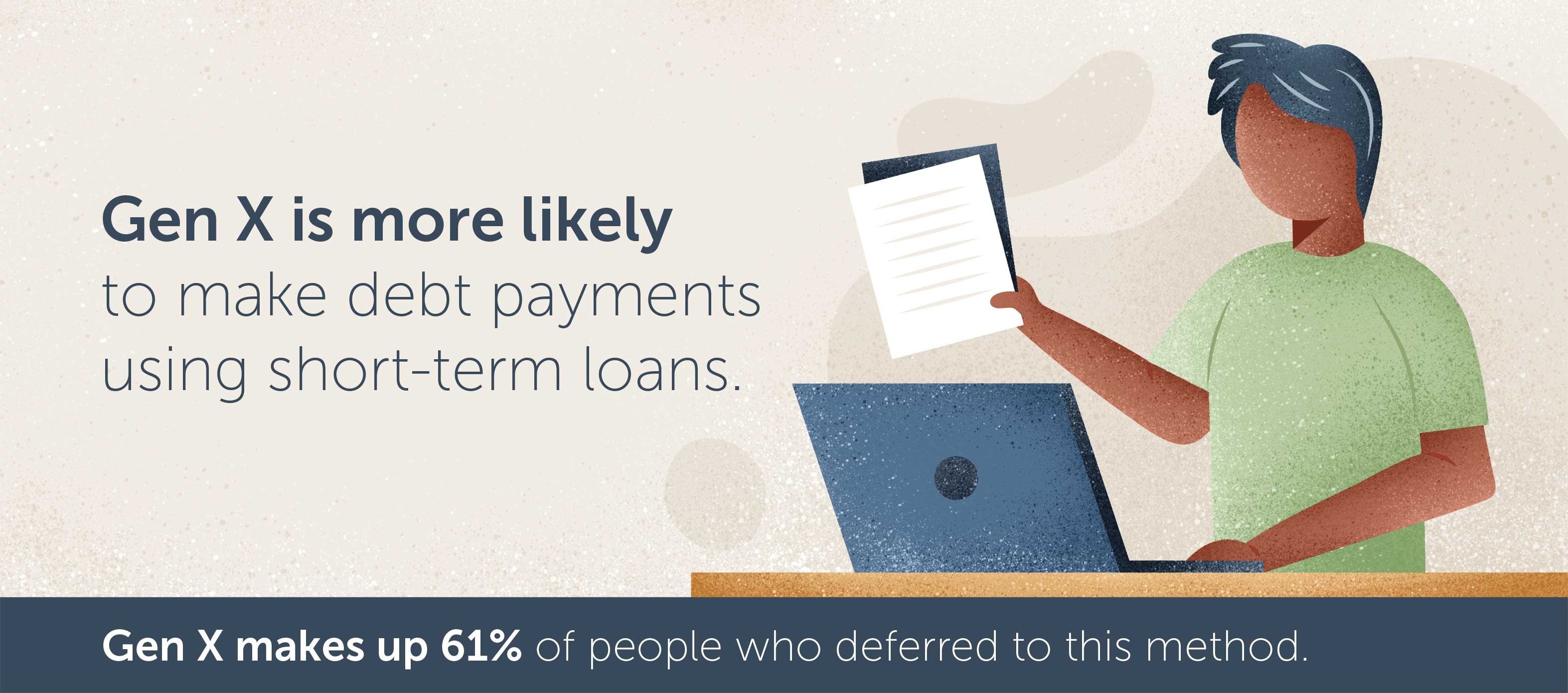 Gen X is more likely to make debt payments using short-term loans