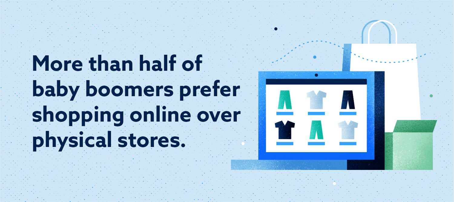 more than half of baby boomers prefer shopping online over physical stores