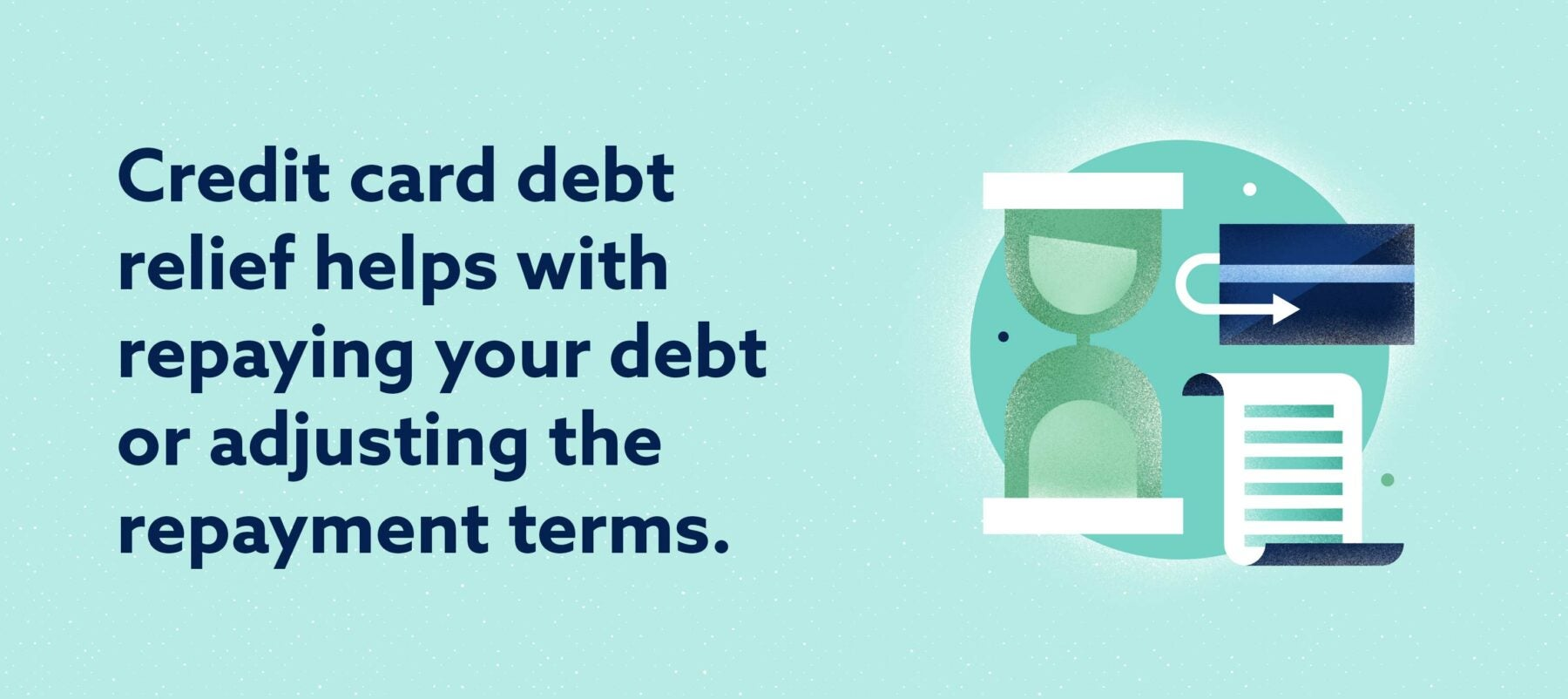 Credit Card debt relief helps with repaying your debt Image