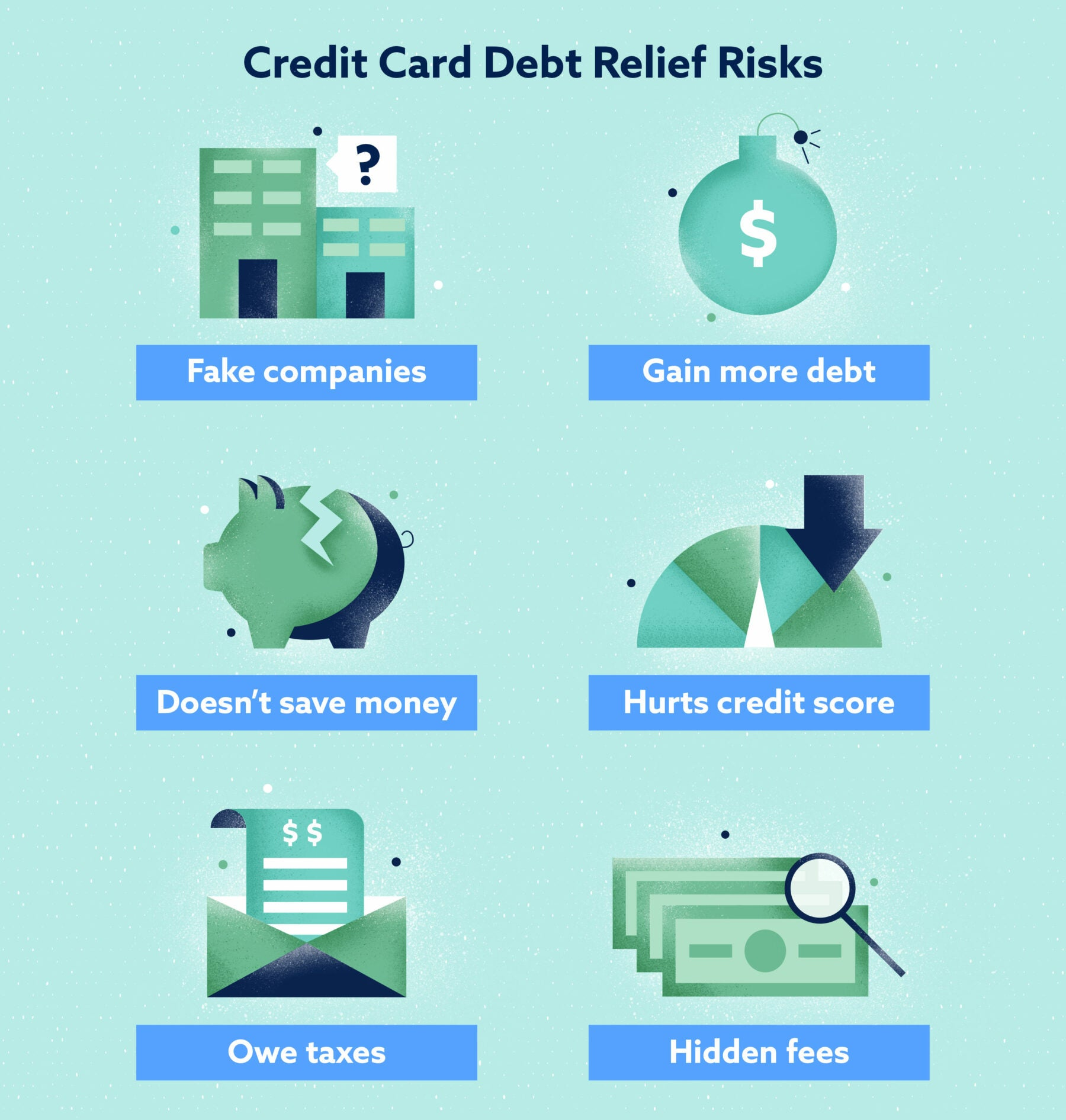 Credit Card Debt Relief Risks Image