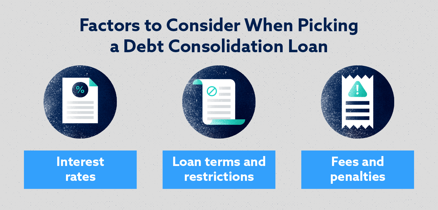 Factors to Consider When Picking a Debt Consolidation Loan Image