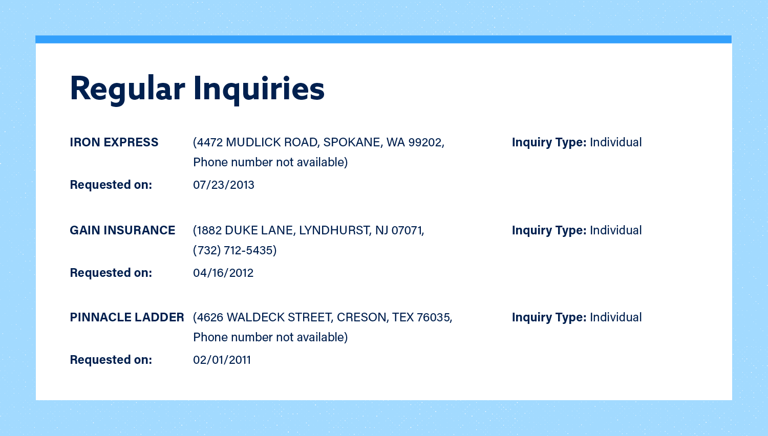 Regular Inquiries Image