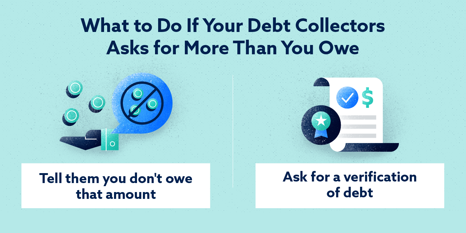 What to Do If Your Debt Collectors Asks for More Than You Owe Image
