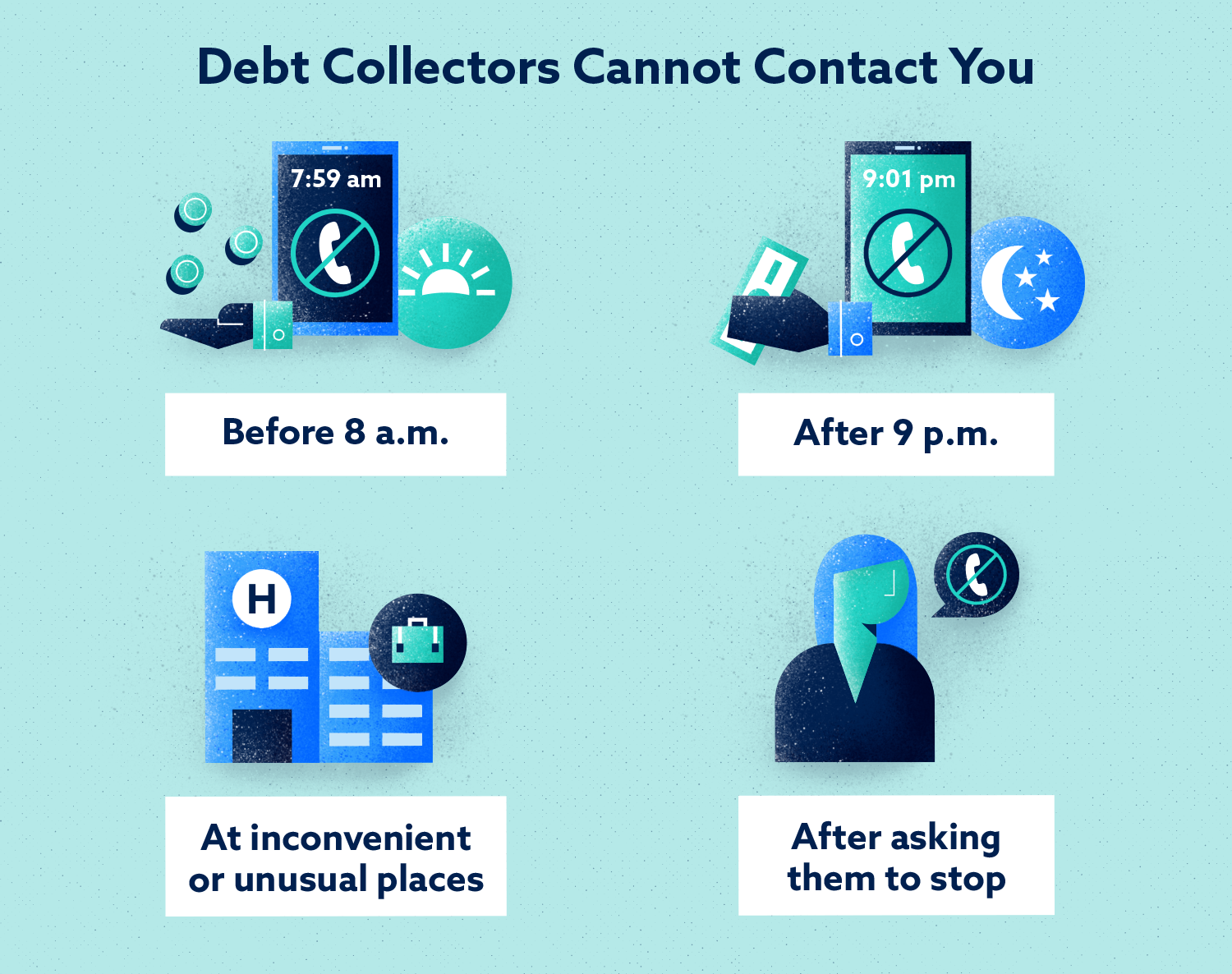 Debt Collectors Cannot Contact You Image