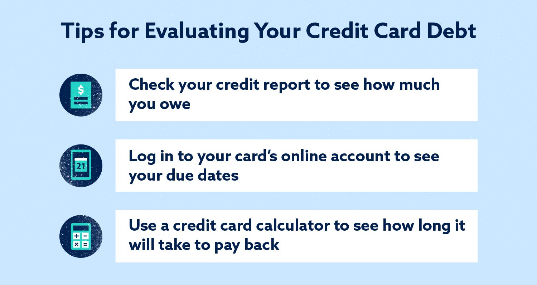 Consejos para evaluar la imagen de deuda de su tarjeta de crédito