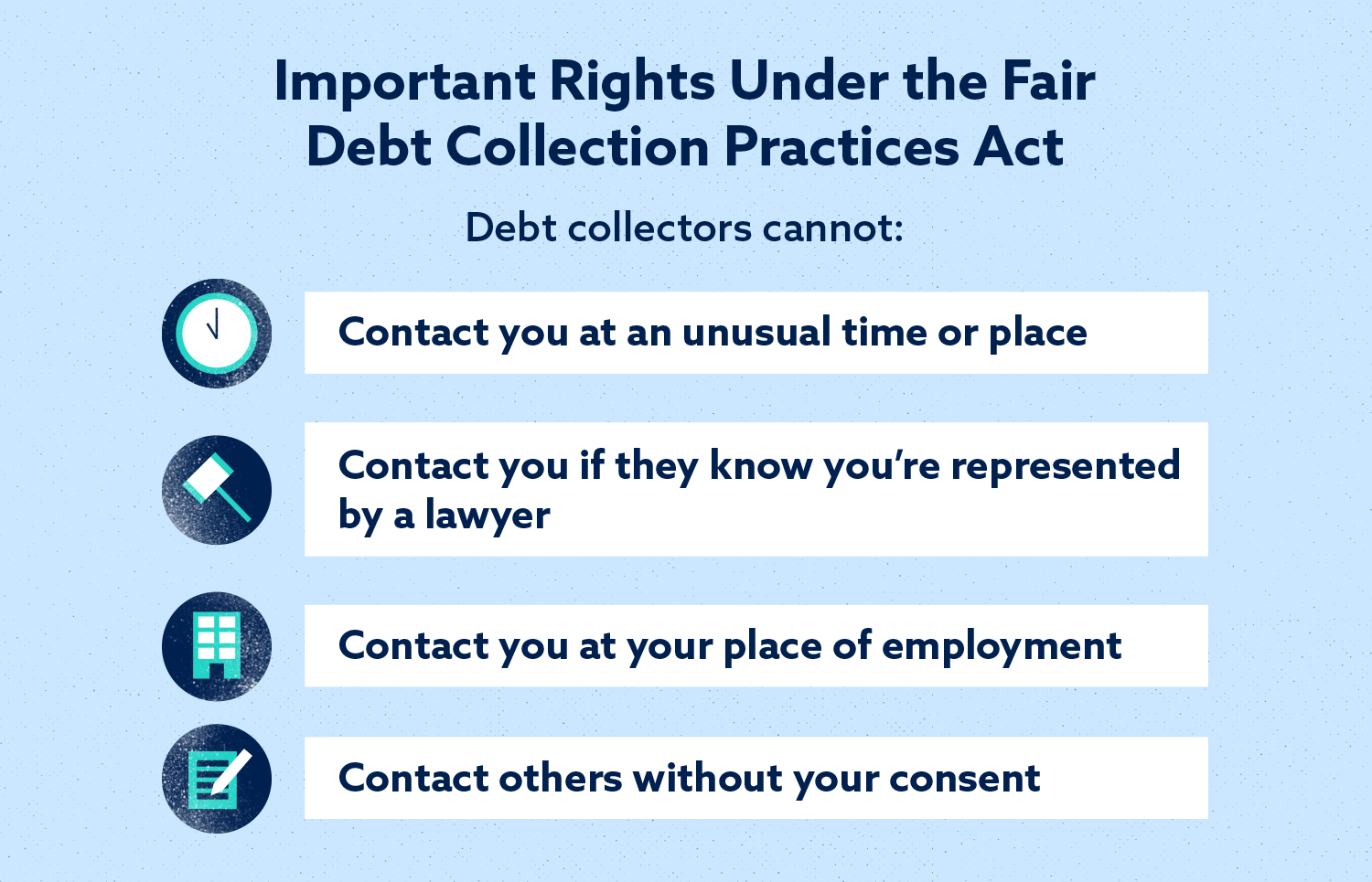 Important Rights Under the Fair Debt Collection Practices Act Image