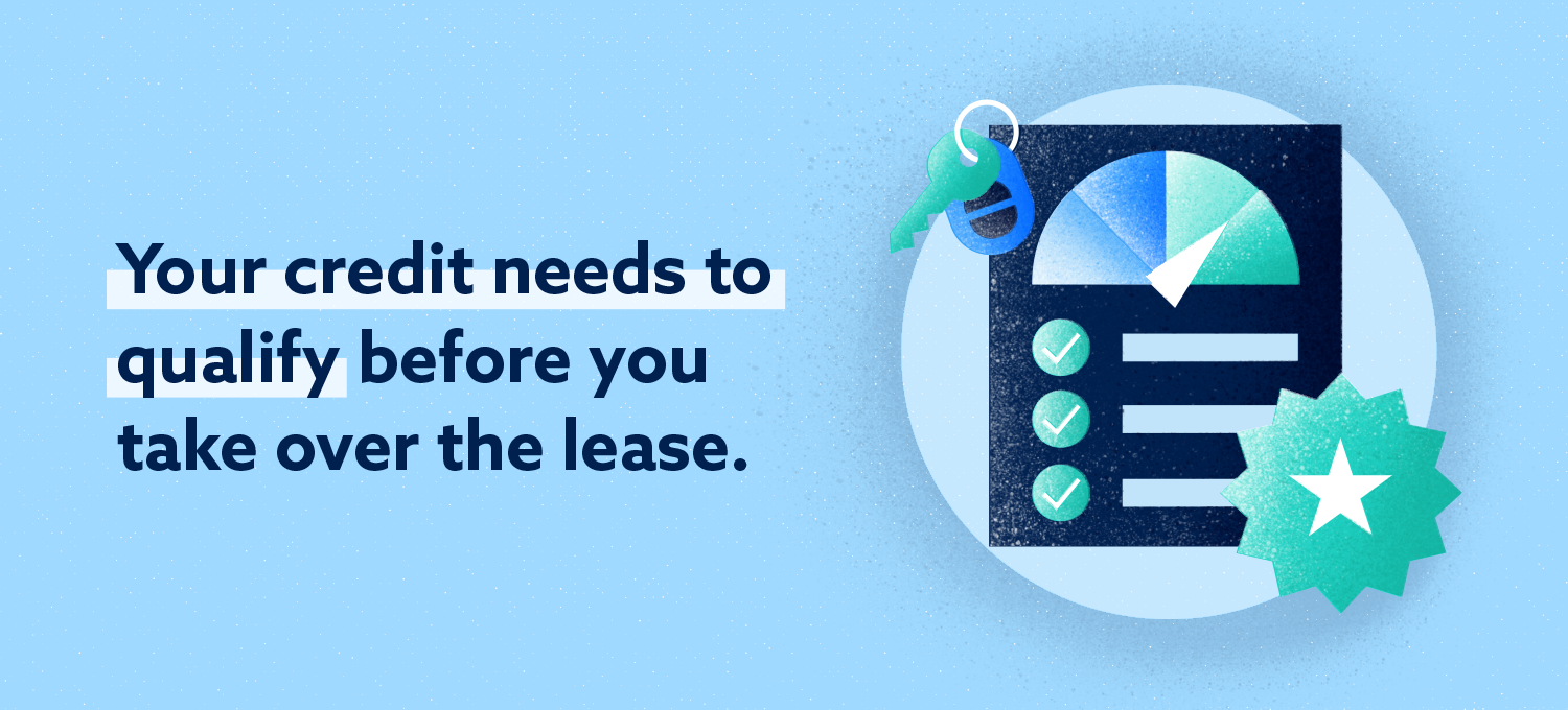 your credit needs to qualify before you take over the lease