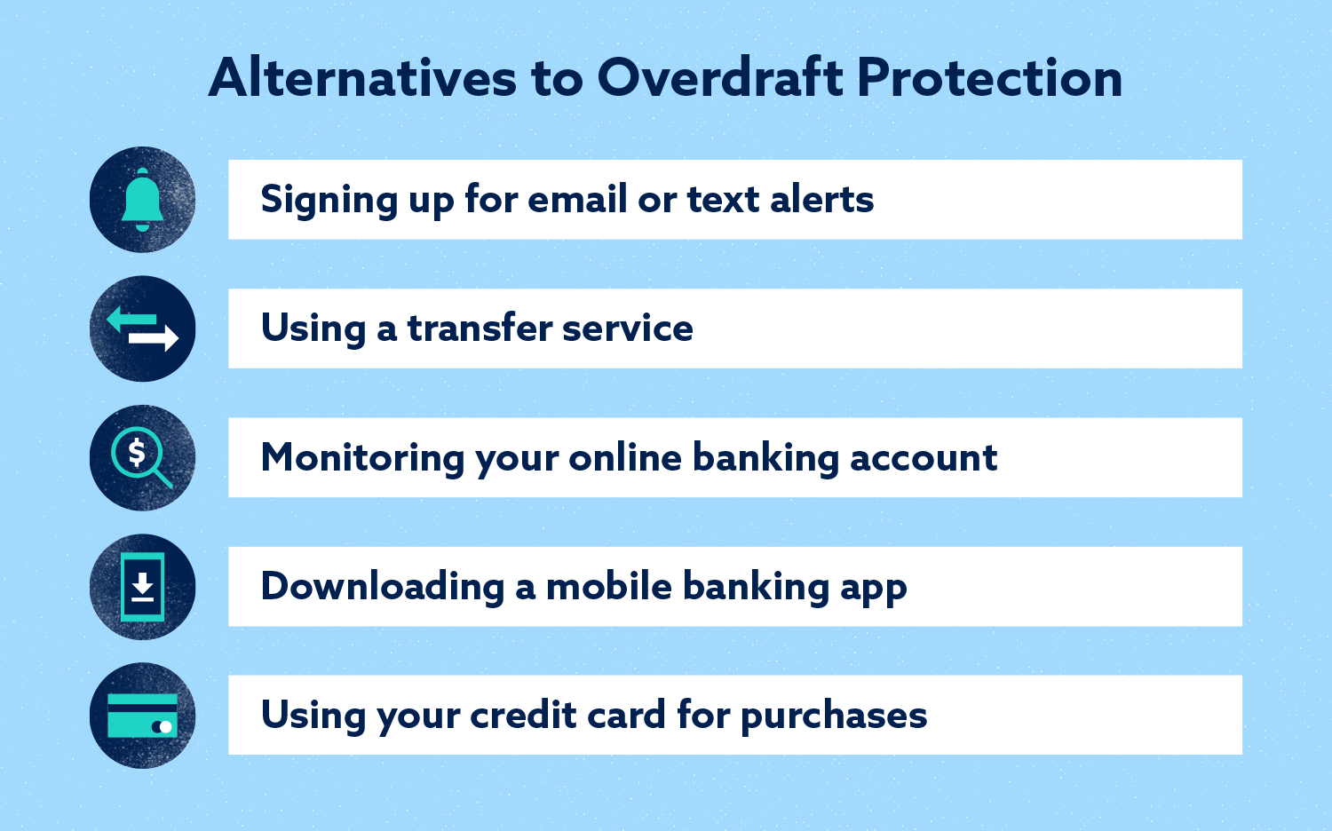 alternatives to overdraft protection