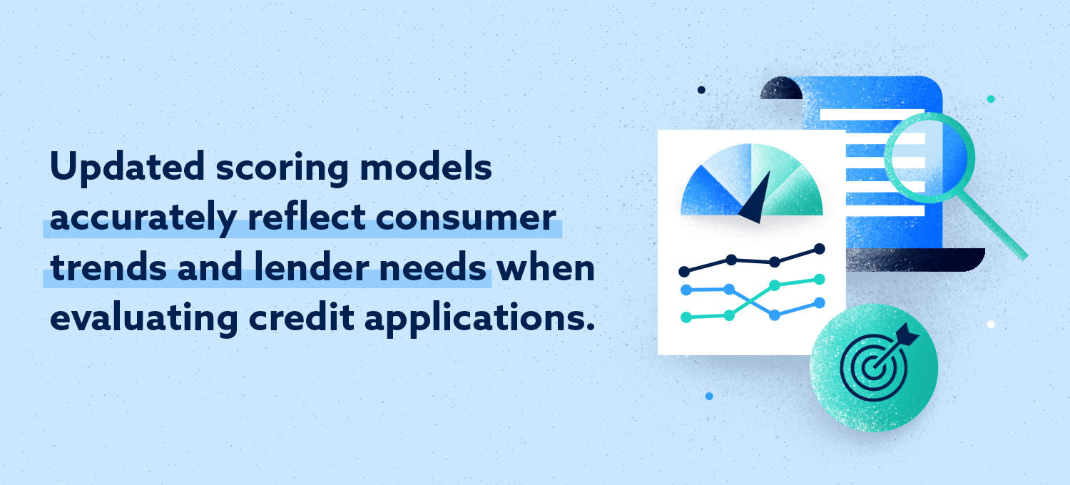 Updated rating models accurately reflect consumer trends and the lender's needs when evaluating credit applications