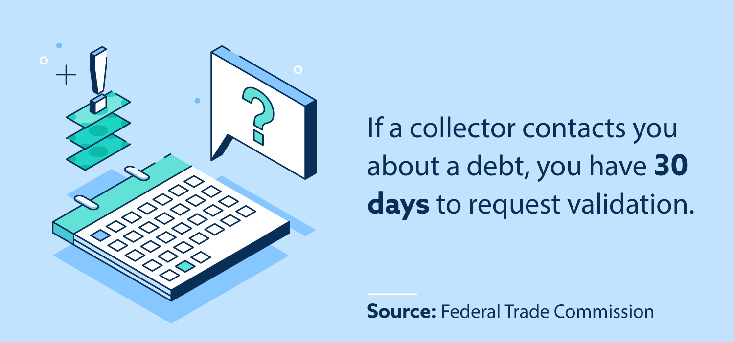 If a collector contacts you about a debt, you have 30 days to request validation.