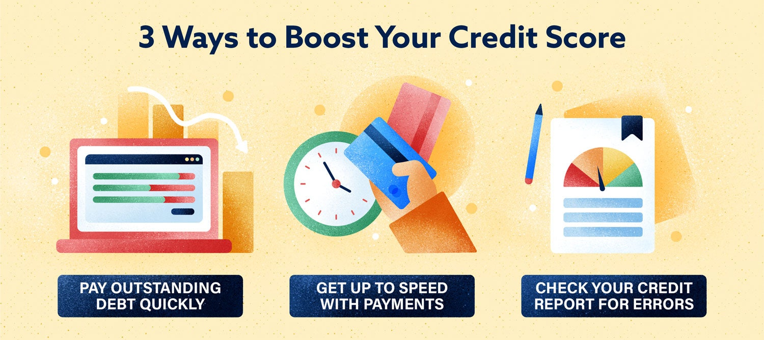 3 ways to boost your credit score
