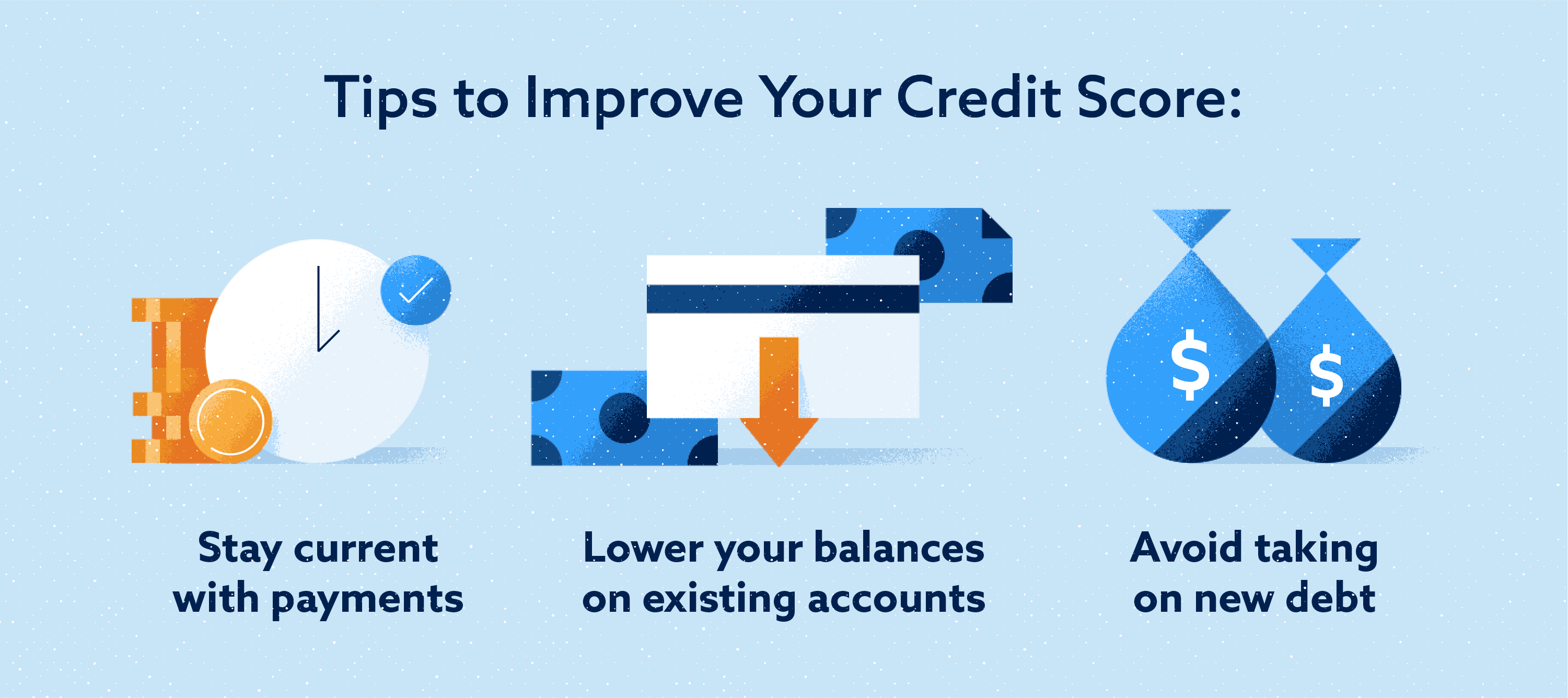Things improve your credit score Image