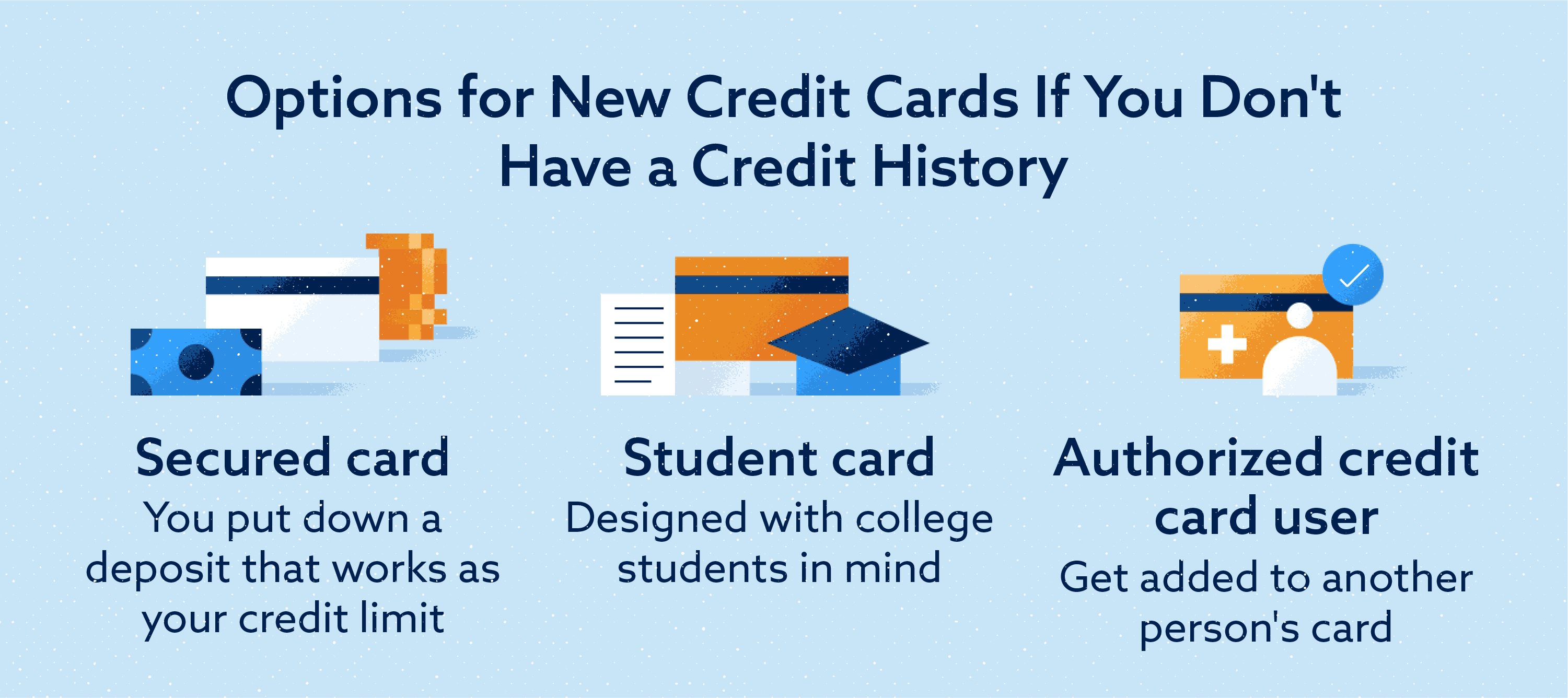 Options when applying for your first credit card Image