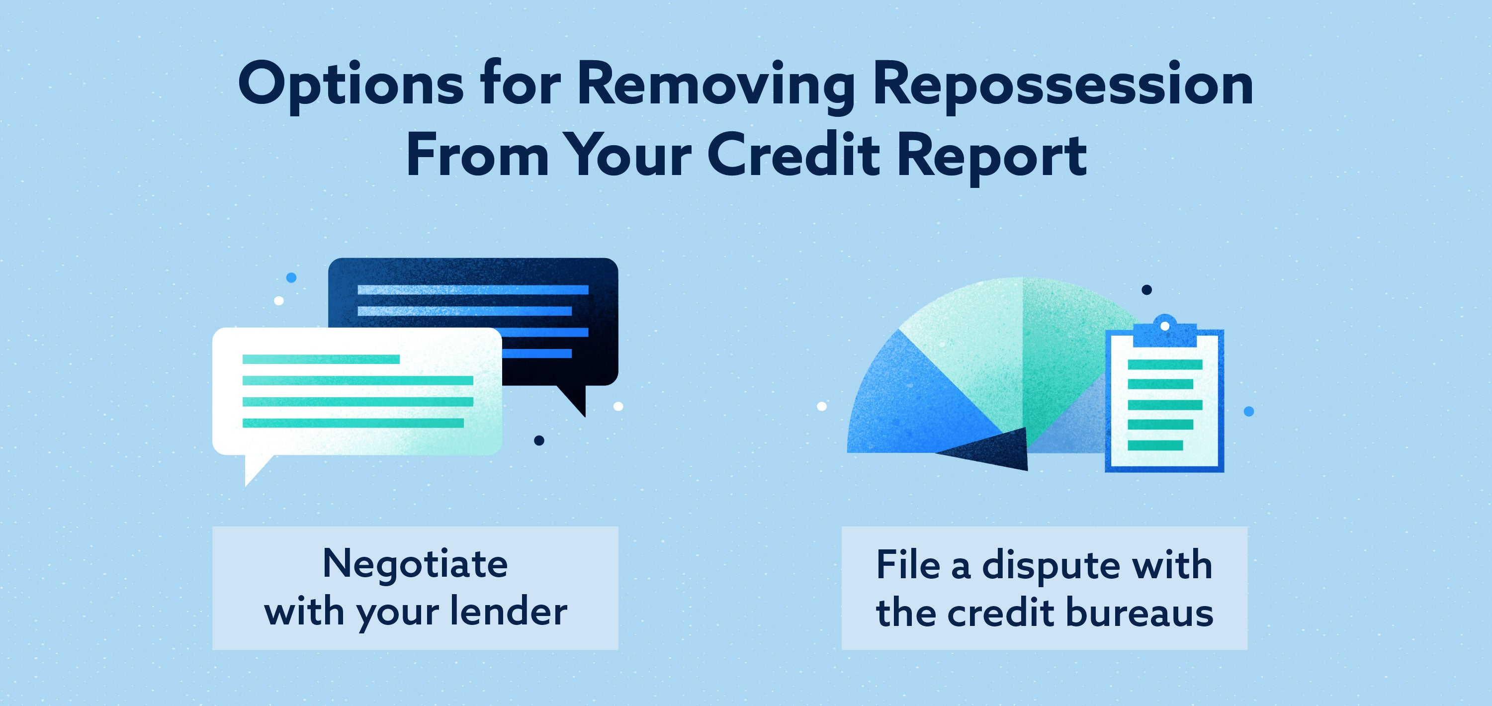 Options for Removing Repossession from your credit report Image
