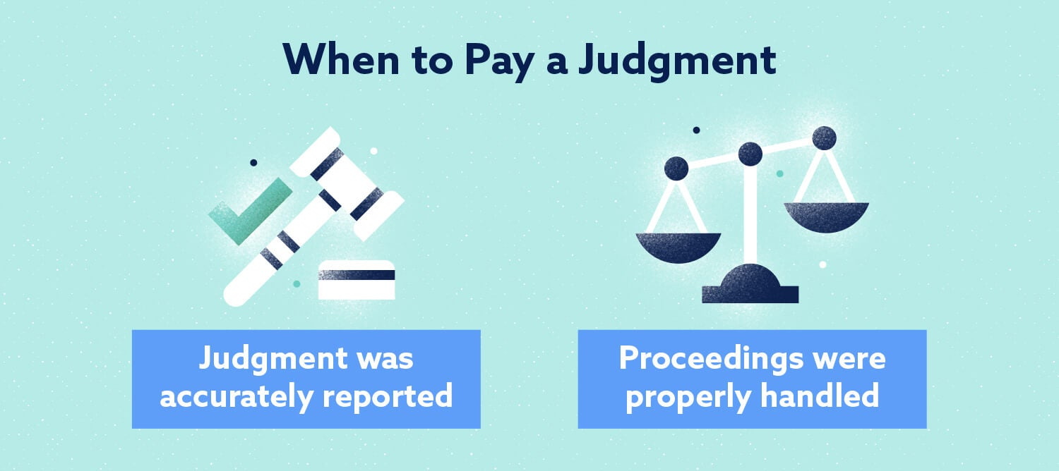When to pay a judgment Image