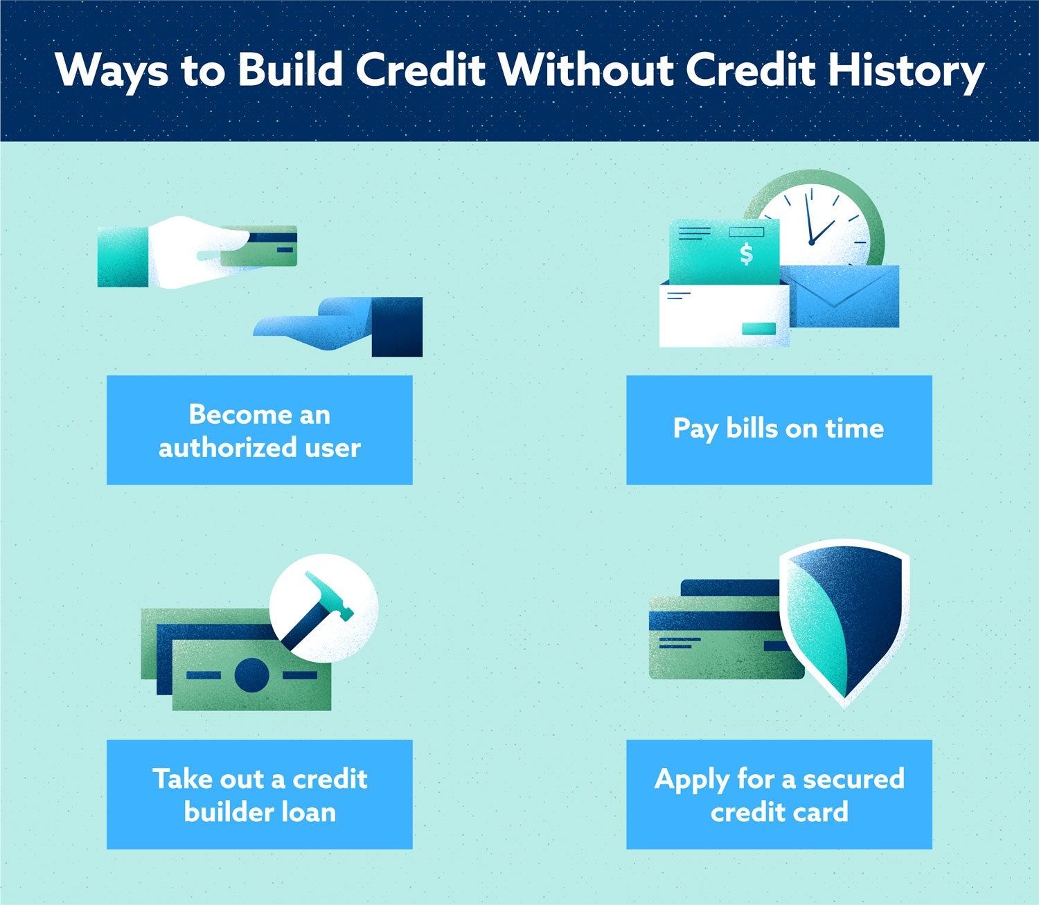 Ways to Build Credit Without a Credit History Image